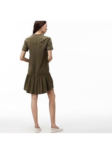 Lacoste Kadın V Yaka Elbise EF0015T.U97 Yeşil